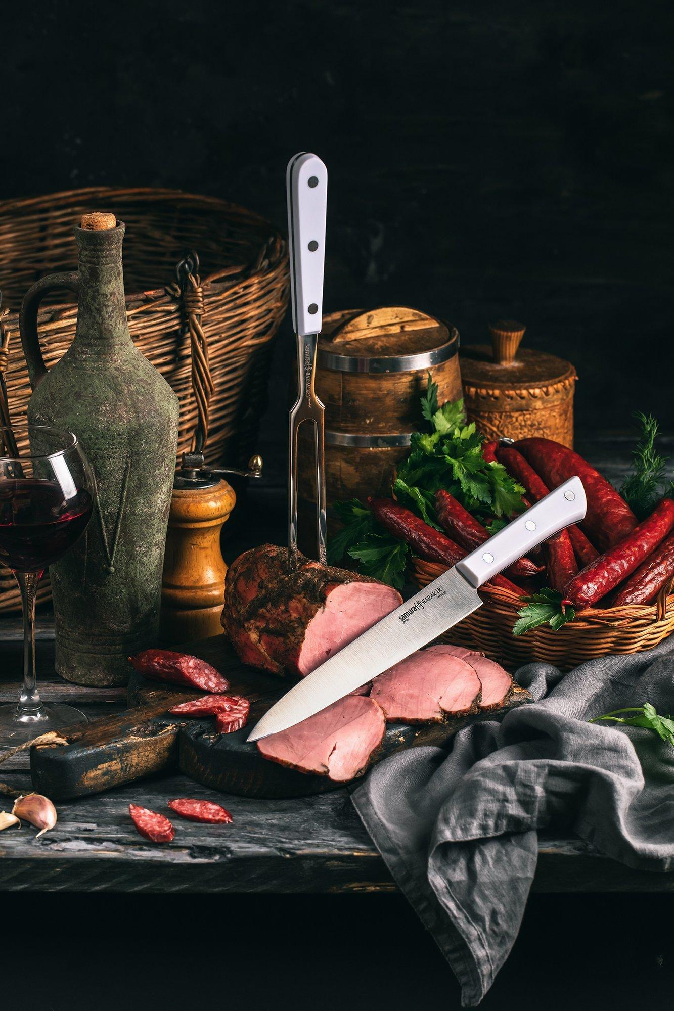 Фото 7 - Нож кухонный для тонкой нарезки Samura
