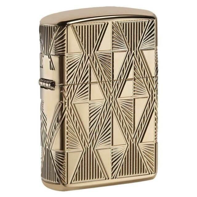 Зажигалка ZIPPO Armor® с покрытием High Polish Gold Plate, латунь/сталь, золотистая, 36x12x56 мм