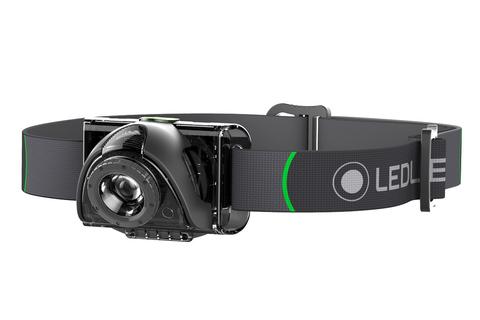 Фонарь светодиодный налобный LED Lenser MH6, черный, 200 лм, аккумулятор. Вид 1