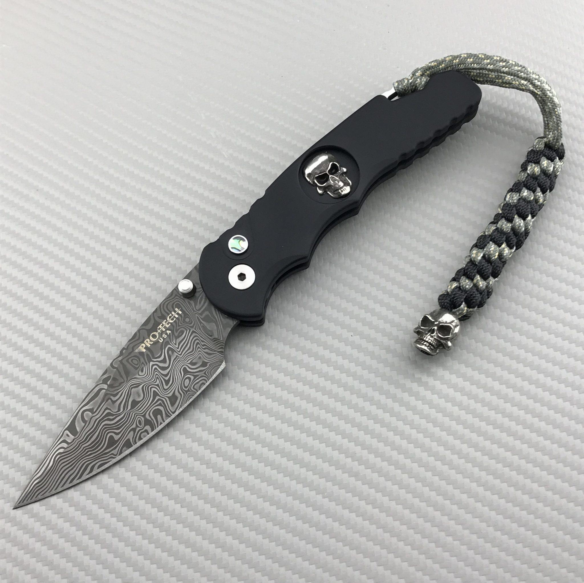 Фото 2 - Складной нож Pro-Tech T5.70 - Tactical Response 5 Bruce Show designed, клинок дамасская сталь, рукоять алюминий, TR-5.70-DM