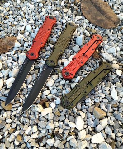 Складной нож Cosmo Red Black, сталь Sleipner. Вид 12