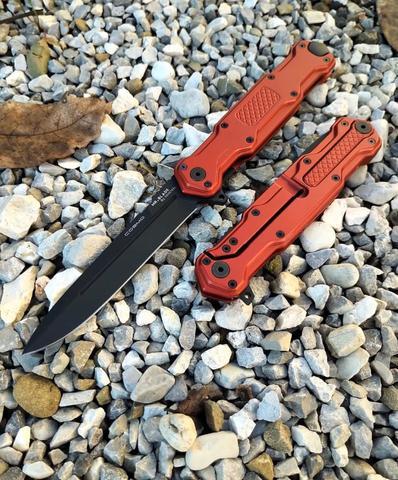 Складной нож Cosmo Red Black, сталь Sleipner. Вид 11