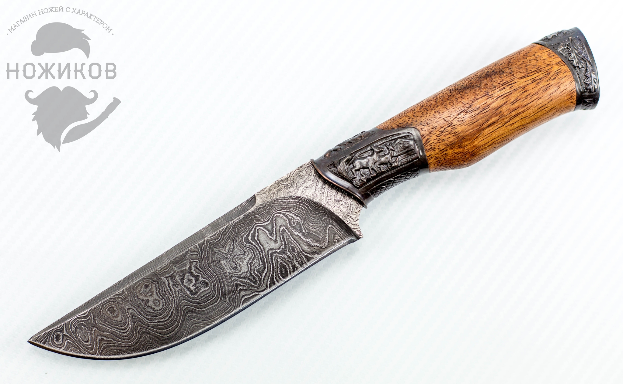 Авторский Нож из Дамаска №61, Кизляр от Noname