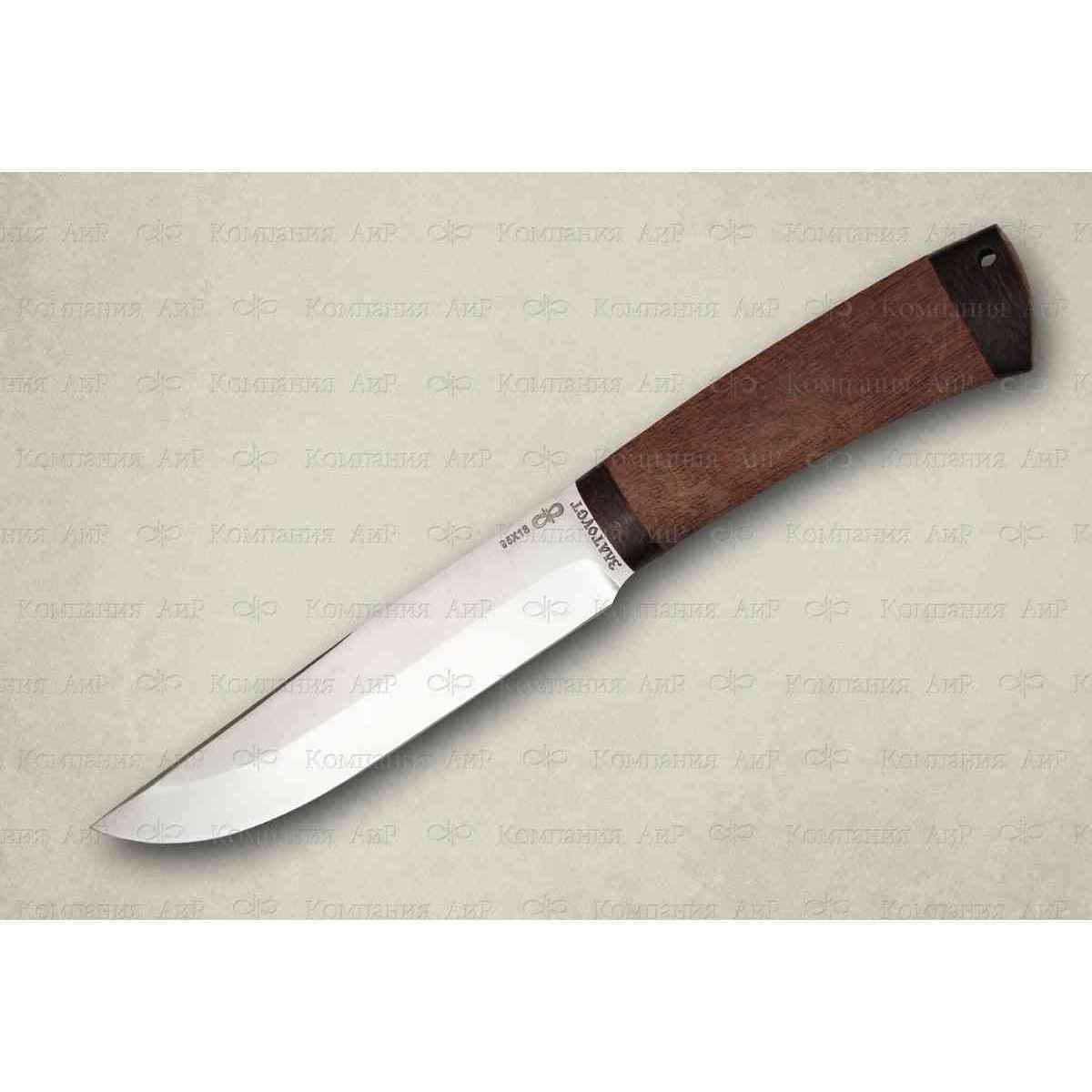 Нож разделочный Шашлычный-сред. дерево, 95х18