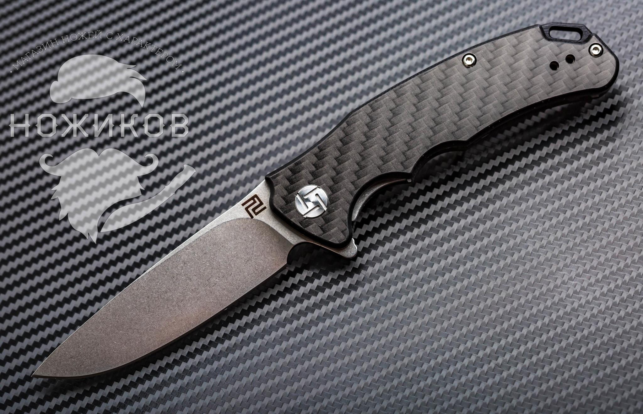Складной нож Artisan Tradition mini, карбон, сталь D2, G10 нож складной aircraft engineer boker сталь 440а карбон