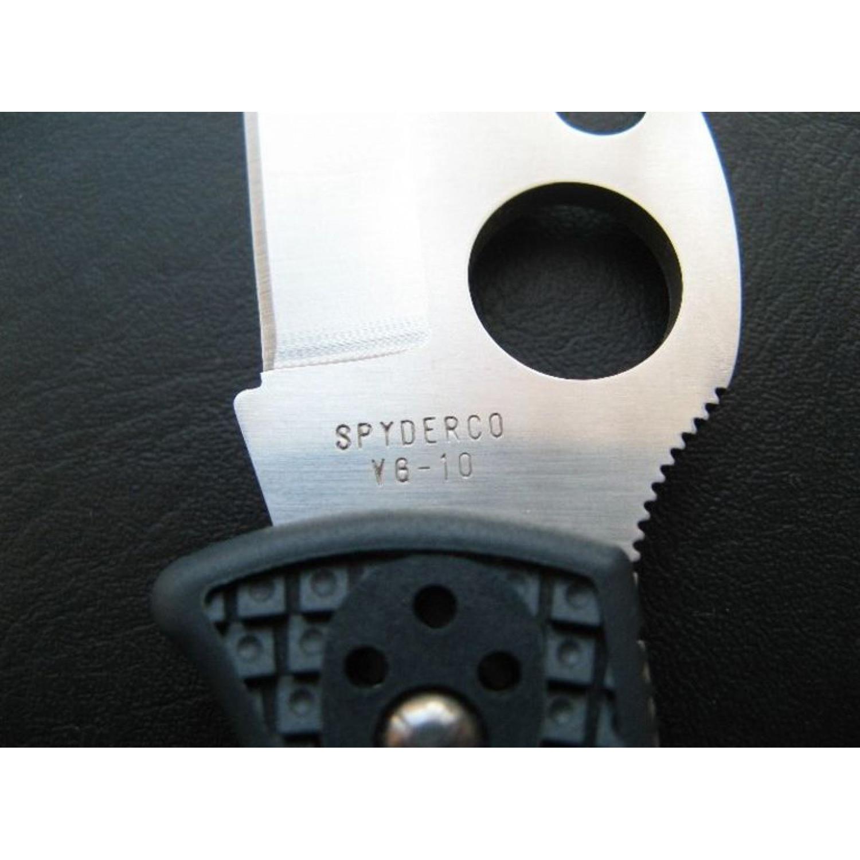 Фото 5 - Нож складной Endura Wave Emerson Opener Spyderco 10PGYW, сталь VG-10 Satin Plain, рукоять термопластик FRN, чёрный