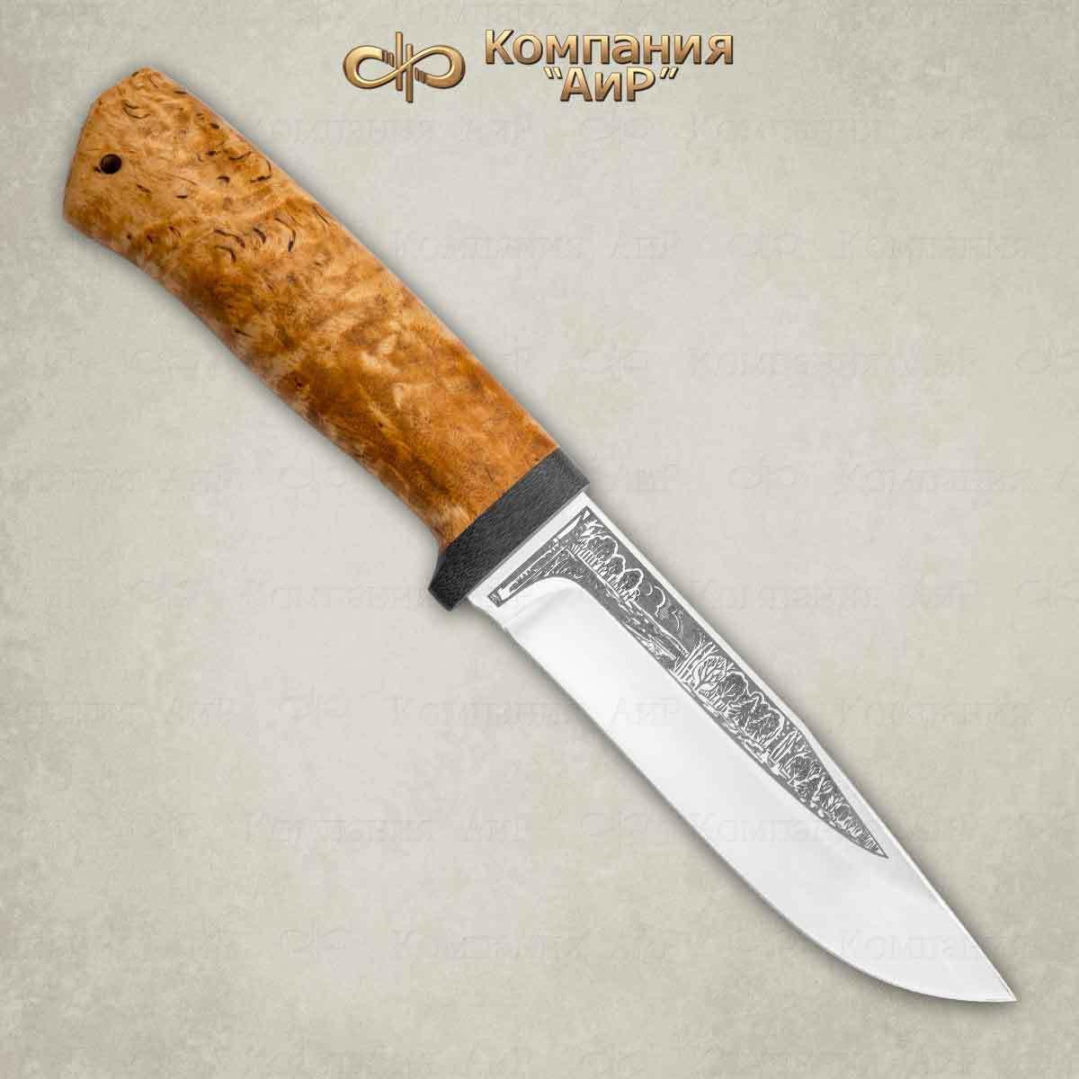 Нож Турист, карельская береза, 95х18