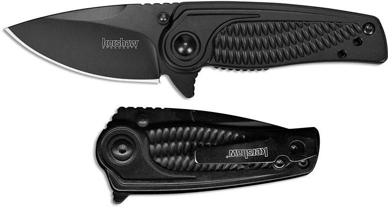 Фото 13 - Складной полуавтоматический нож Kershaw Spoke K1313BLK, сталь 4Cr14, рукоять нержавеющая сталь