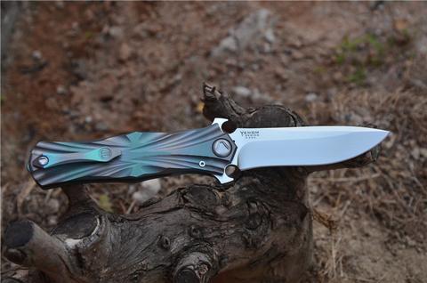 Складной нож Venom T от Kevin John, сталь M390. Вид 11