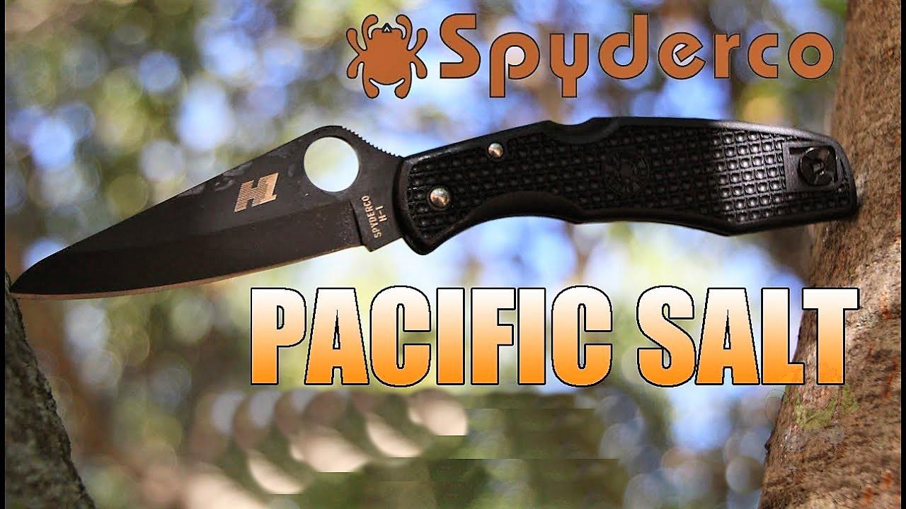 Фото 10 - Нож складной Pacific Salt Spyderco 91PBBK, сталь H1 Black Carbonitride Plain, рукоять термопластик FRN, чёрный