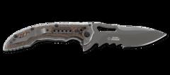 Складной нож Flavio Ikoma Design Fossil™ IKBS® Flipper, Titanium Nitride Coated Combo Blade, Steel Handle with G10 Inlays, фото 1