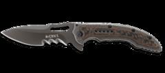 Складной нож Flavio Ikoma Design Fossil™ IKBS® Flipper, Titanium Nitride Coated Combo Blade, Steel Handle with G10 Inlays, фото 2