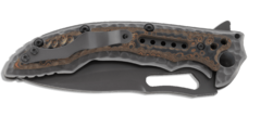 Складной нож Flavio Ikoma Design Fossil™ IKBS® Flipper, Titanium Nitride Coated Combo Blade, Steel Handle with G10 Inlays, фото 3