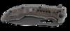 Складной нож Flavio Ikoma Design Fossil™ IKBS® Flipper, Titanium Nitride Coated Combo Blade, Steel Handle with G10 Inlays - Nozhikov.ru