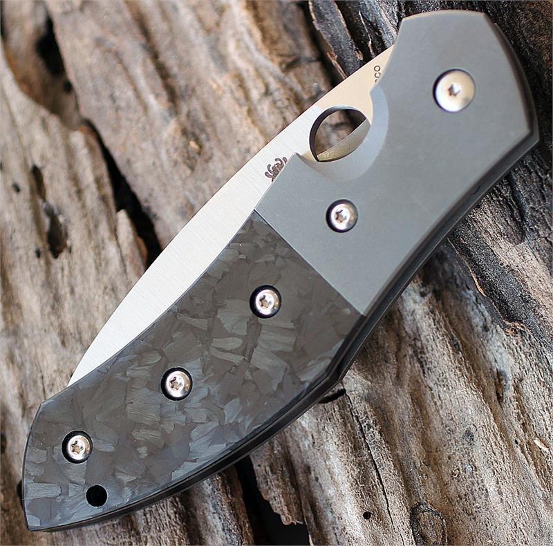 Фото 8 - Нож складной Myrtle - Spyderco C194CFTIP, сталь CPM® S30V Satin Plain, рукоять титан/карбон