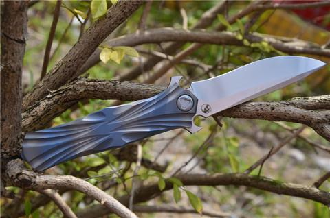 Складной нож Venom T от Kevin John, сталь M390. Вид 12