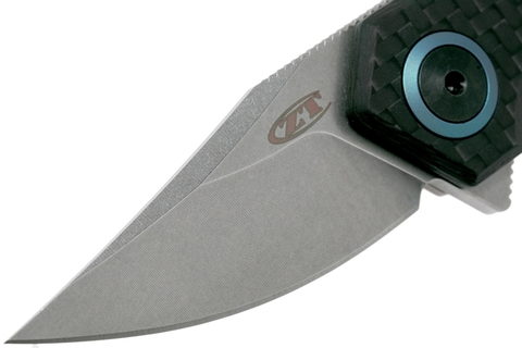 Складной нож Zero Tolerance 0022, сталь CPM-20CV, рукоять титан/карбон. Вид 3