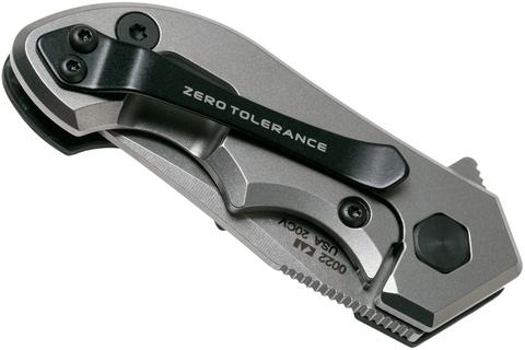 Складной нож Zero Tolerance 0022, сталь CPM-20CV, рукоять титан/карбон. Вид 4