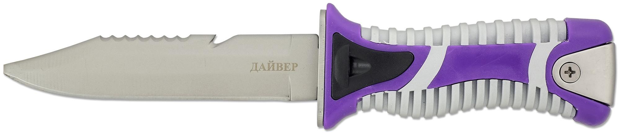 Нож подводный с пластиковыми ножнами на бедро Дайвер, H-118S нож складной охотничий ножемир с ножнами общая длина 30 3 см