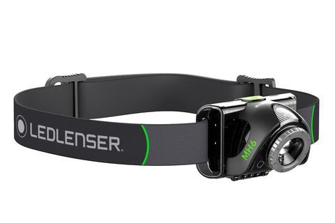 Фонарь светодиодный налобный LED Lenser MH6, черный, 200 лм, аккумулятор. Вид 3