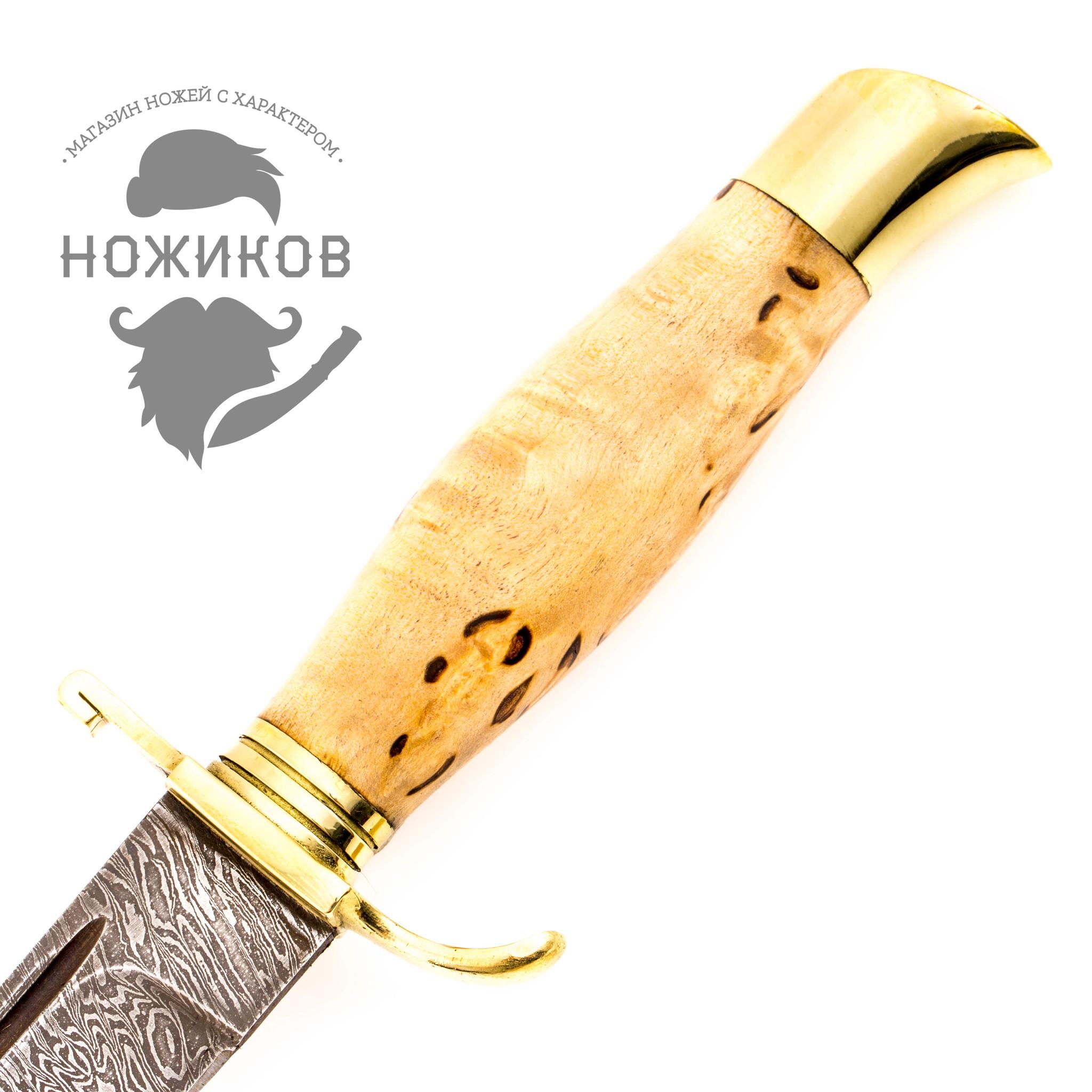 Фото 16 - Нож Финка НКВД, сталь дамаск, карельская береза от Промтехснаб