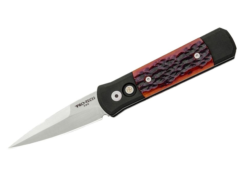 Фото 10 - Автоматический складной нож Pro-Tech Godson 761, сталь 154CM, рукоять алюминий, вставка кость