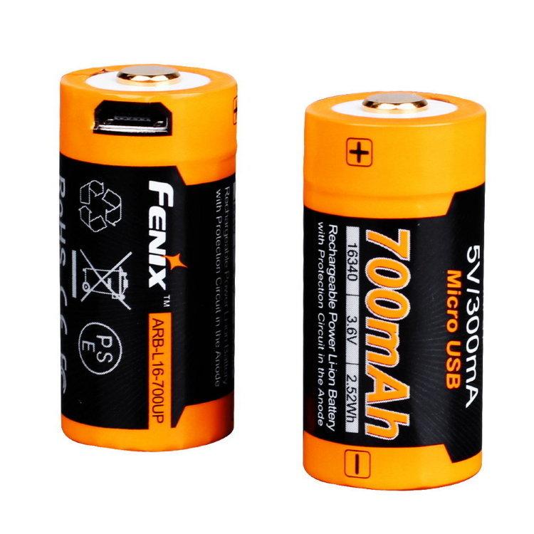 цена на Аккумулятор 16340 Fenix 700 UP mAh Li-ion разъемом для USB