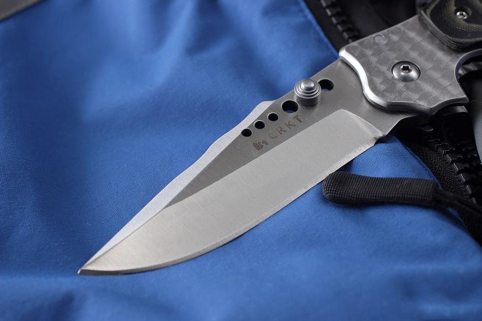 Фото 6 - Полуавтоматический складной нож Natural 2, CRKT 7080M, сталь 8Cr13MOV, рукоять сталь/микарта