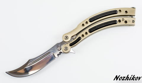 Нож-бабочка (балисонг) CS GO Silver - Nozhikov.ru