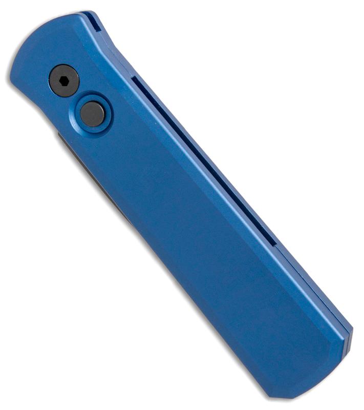 Фото 4 - Автоматический складной нож Pro-Tech Blue Godson, сталь 154CM, рукоять алюминий, синий