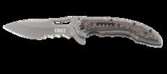 Складной нож CRKT Fossil™ Compact WITH VEFF SERRATIONS™, сталь 8Cr13MoV, рукоять нержавеющая сталь, накладки G-10, фото 2