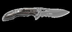 Складной нож CRKT Fossil™ Compact WITH VEFF SERRATIONS™, сталь 8Cr13MoV, рукоять нержавеющая сталь, накладки G-10, фото 3