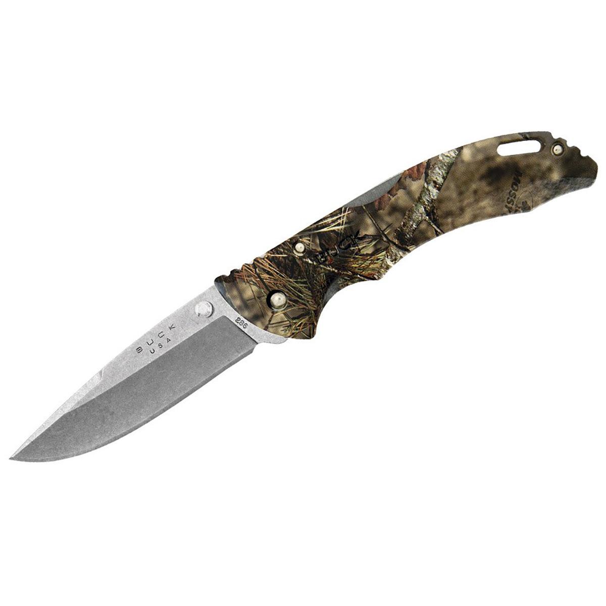 Складной нож Buck Bantam Mossy Oak Camo, сталь 420НС, рукоять  нейлон