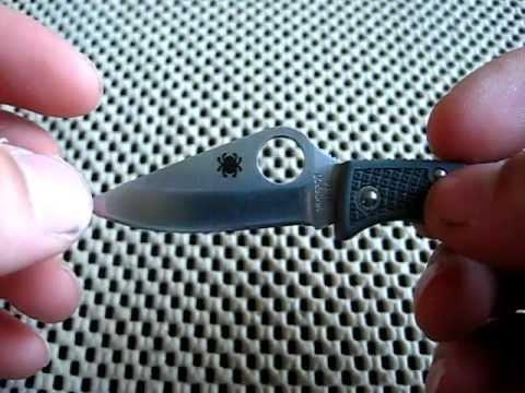 Нож складной Ladybug 3 - Spyderco LFGP3, сталь VG-10 Satin Plain, рукоять термопластик FRN, (Foliage Green) зелёный. Вид 2