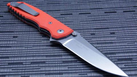 Нож складной Fantoni, HB01, William (Bill) Harsey Design-2, FAN/HB01SwOr, сталь CPM-S30V, рукоять стеклотекстолит G-10. Вид 5