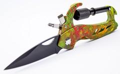 Нож-карабин, цветной
