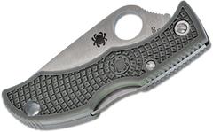 Нож складной Ladybug 3 - Spyderco LFGP3, сталь VG-10 Satin Plain, рукоять термопластик FRN, (Foliage Green) зелёный, фото 6