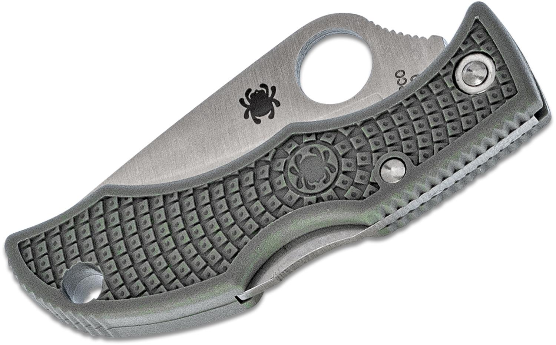 Фото 8 - Нож складной Ladybug 3 - Spyderco LFGP3, сталь VG-10 Satin Plain, рукоять термопластик FRN, (Foliage Green) зелёный