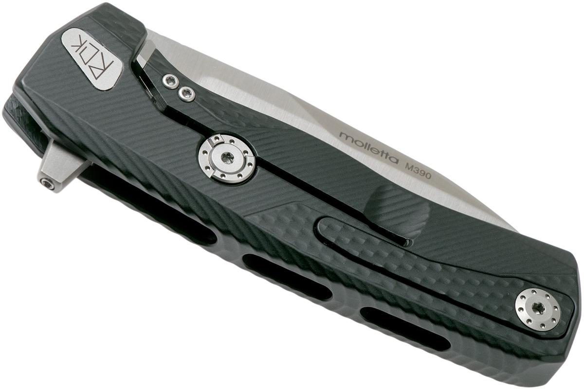 Фото 6 - Нож складной LionSteel ROK A BS, сталь Satin Finish Bhler M390, рукоять алюминий, чёрный от Lion Steel