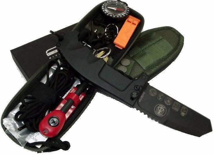 Фото 4 - Складной нож+набор для выживания Extrema Ratio RAO Avio, сталь Bhler N690, рукоять алюминий