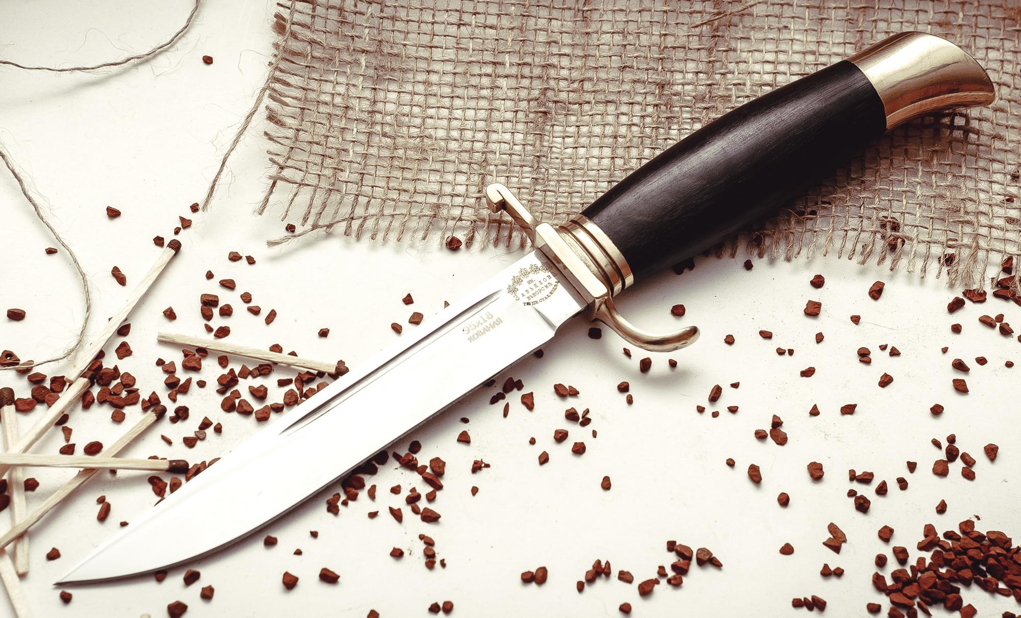 Нож Финка НКВД, ков. 95х18, латунь от Кузница Завьялова
