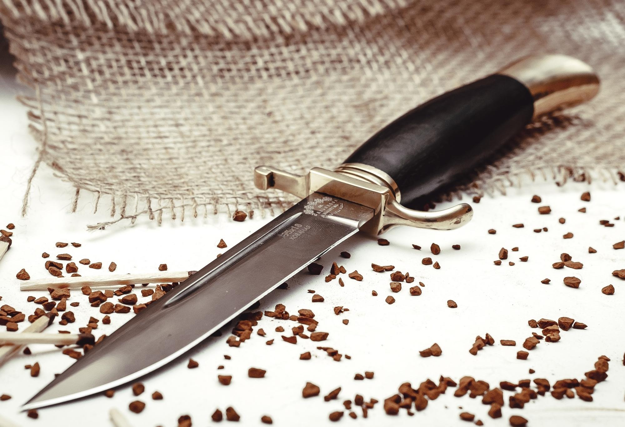 Фото 6 - Нож Финка НКВД, ков. 95х18, латунь от Кузница Завьялова
