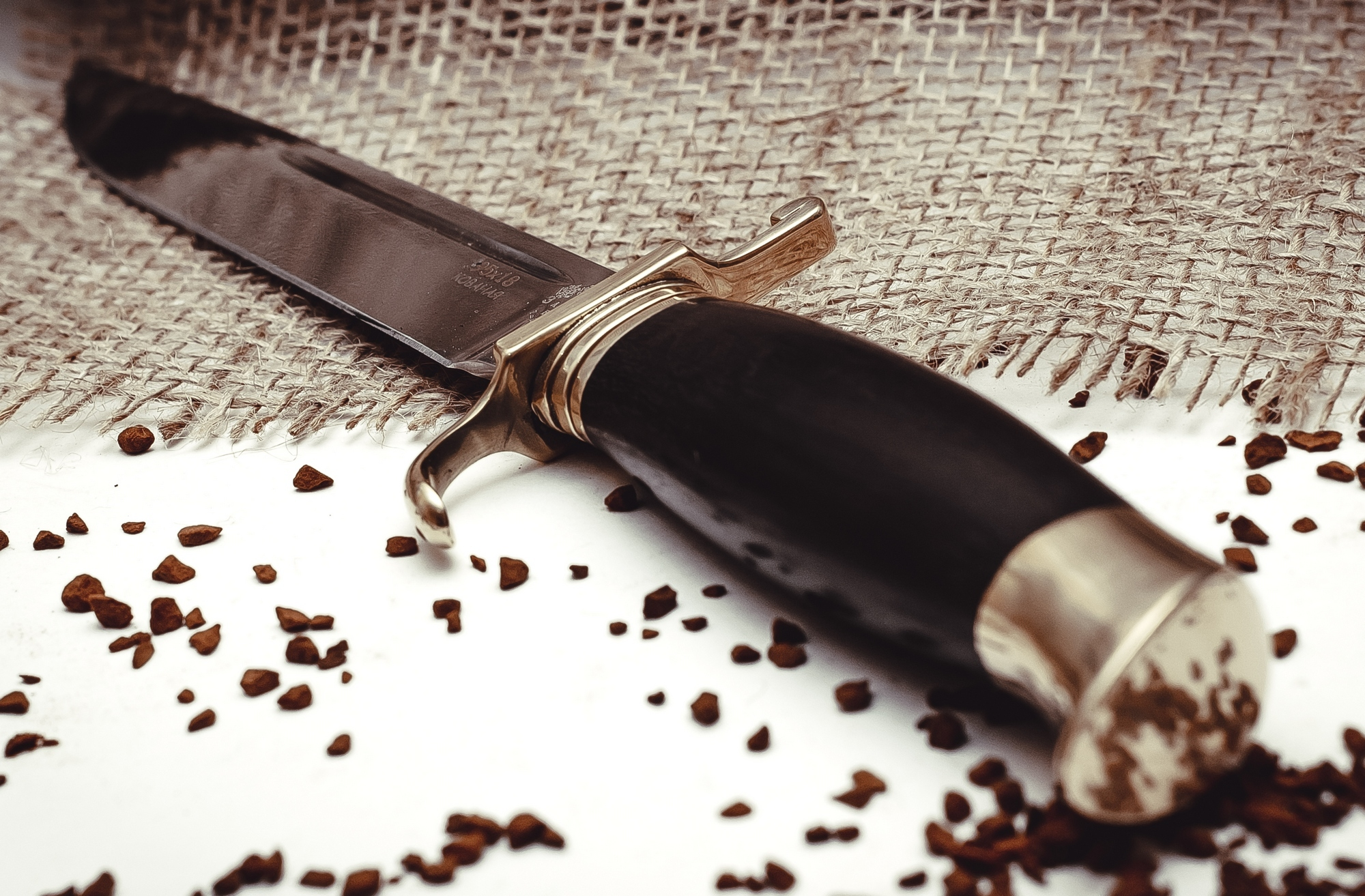 Фото 7 - Нож Финка НКВД, ков. 95х18, латунь от Кузница Завьялова