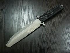 Нож с фиксированным клинком Golem Sandblasted