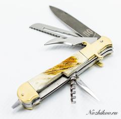 Складной многопредметный нож Егерь ХВ-5, рог