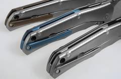 Нож складной LionSteel T.R.E. Blue Titanium, TRE BL, сталь M390, рукоять титан, фото 11