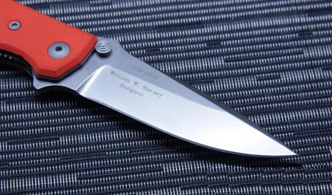 Нож складной Fantoni, HB01, William (Bill) Harsey Design-2, FAN/HB01SwOr, сталь CPM-S30V, рукоять стеклотекстолит G-10. Вид 6