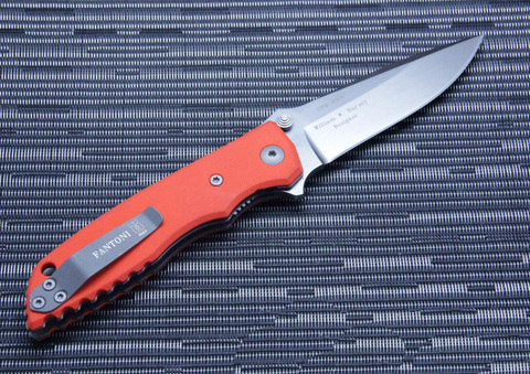 Нож складной Fantoni, HB01, William (Bill) Harsey Design-2, FAN/HB01SwOr, сталь CPM-S30V, рукоять стеклотекстолит G-10. Вид 7