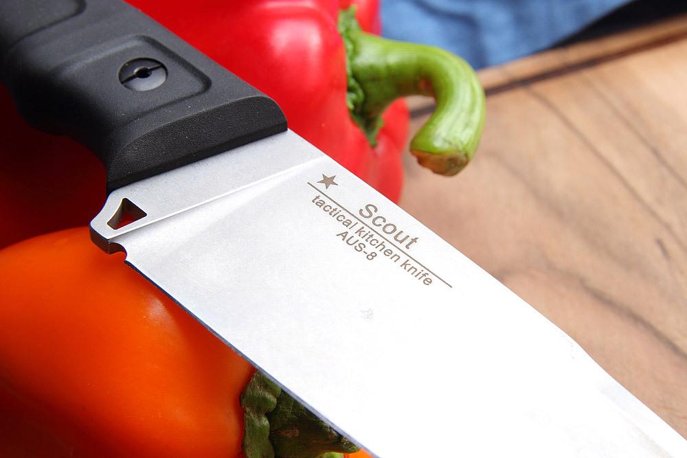 Фото 7 - Кухонный тактический мужской нож SCOUT от Noname
