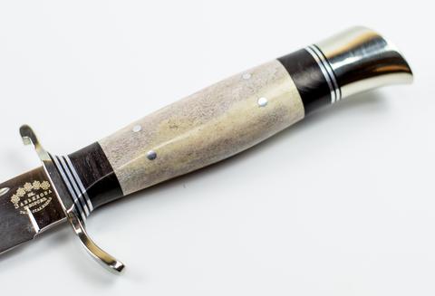 Нож Финка НКВД, сталь K340, рукоять рог. Вид 7
